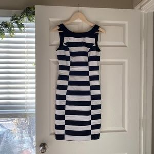 H&M Blue + White Sleeveless Dress  - Size 6
